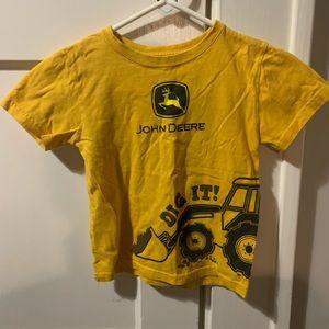 John Deere Boys Yellow Dig It! Tractor Shirt 4T
